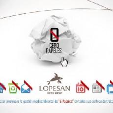 Iniciativa «0 papeles» de Lopesan, innovación y sostenibilidad