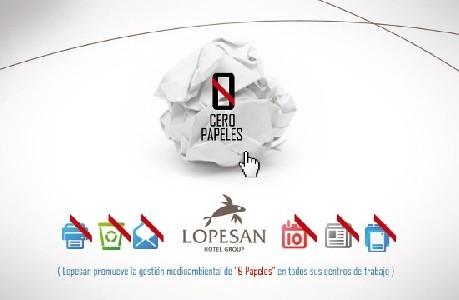 "niciativa Lopesan ""0 papeles"" de www.lopesan.com"