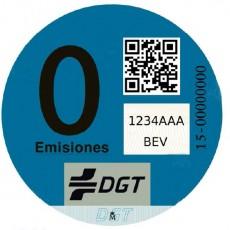 Nuevo distintivo de la DGT para vehículos eléctricos