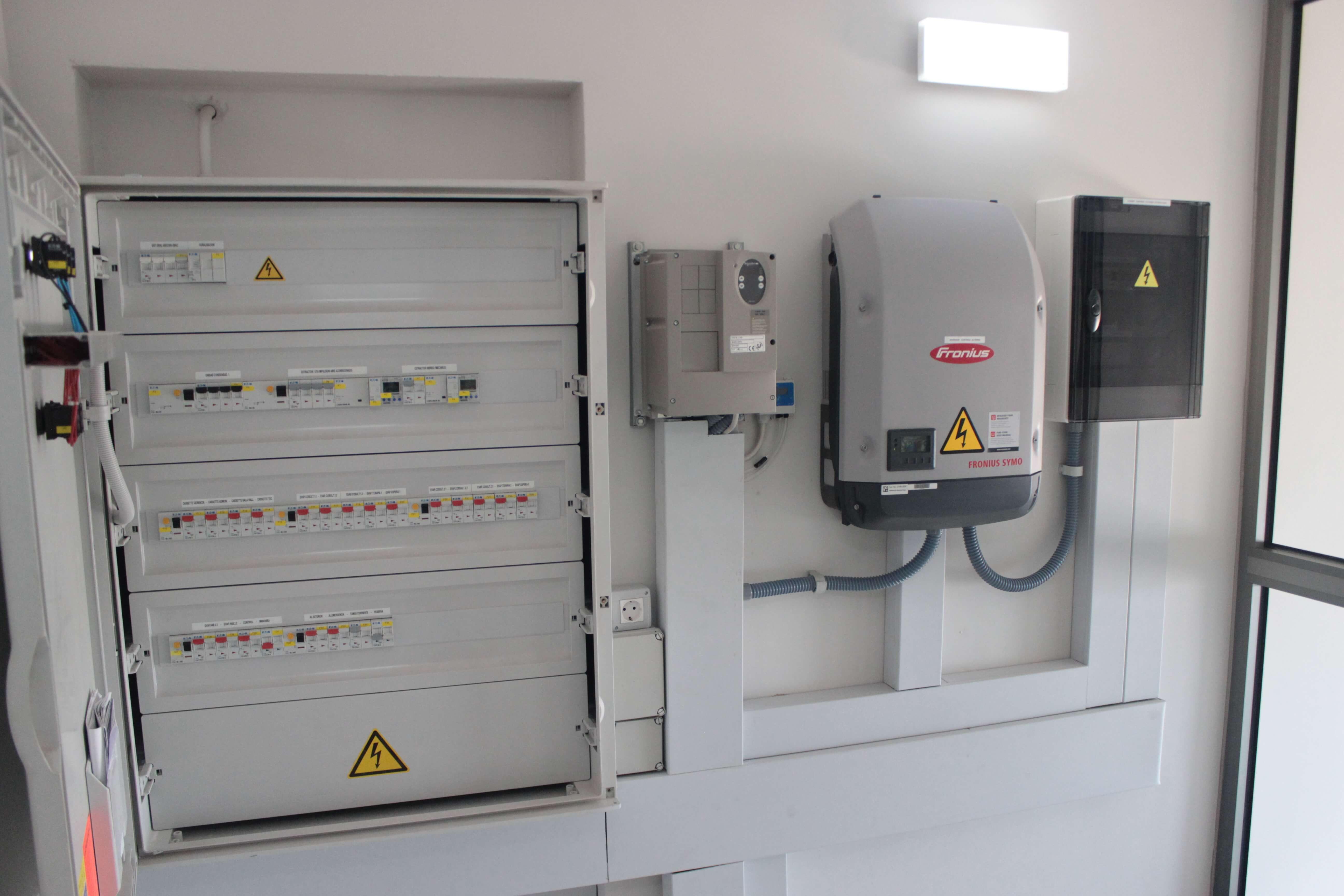 Instalaciones eléctricas de planta cubierta