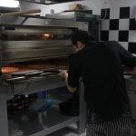 Horno de pizzas en la cocina