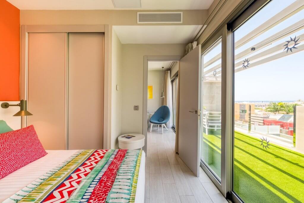 Vistas desde dormitorio en viviendas de planta segunda