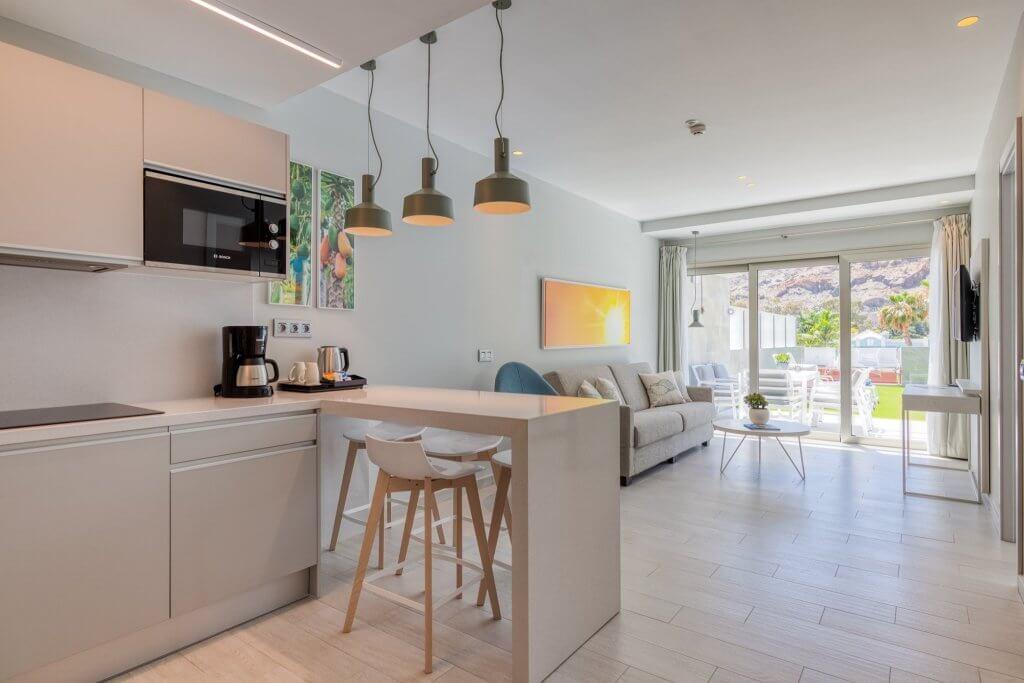Vista general del salón-cocina